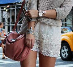 Second Female sweater, Urban Outfitters skirt, Marc by Marc Jacobs bag, Michael Kors watch, Love Me Long Time bracelets & rings.