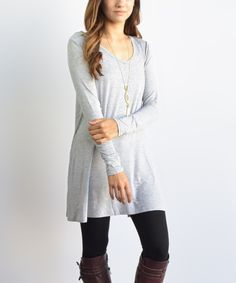 Look what I found on #zulily! éloges Gray Ballet Tunic by éloges #zulilyfinds