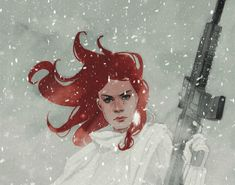 Black Widow in the Snow - Phil Noto