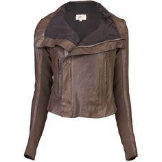 JUNE Biker jacket ($760) via Polyvore