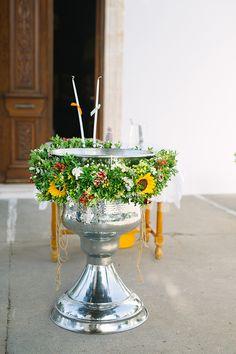 Υπεροχες ιδεες βαπτισης με χρωμα - EverAfter Baptism Decorations, Table Decorations, Baptism Ideas, Sunflowers, Christening, Gardening, Colorful, Baby, Home Decor