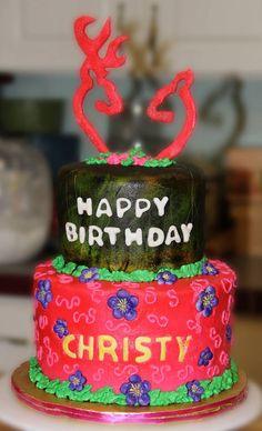 Pink Browning cake