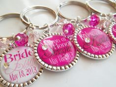 4 Custom Personalized Wedding bridal party gift by SignatureBling, $32.00