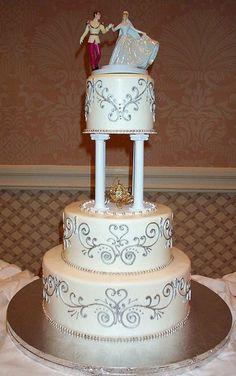 Idée gâteau mariage Cendrillon Disney