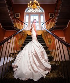 The bride looking stunning at her reception in Balbirnie House, Scotland.
