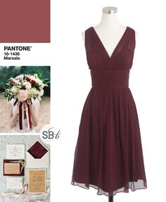 Pantone Fall 2015 Bridesmaid Dress Inspiration: Marsala | SouthBound Bride | http://www.southboundbride.com/pantone-fall-2015-bridesmaid-dress-inspiration | Image credits: Lucy Munoz Photography // Sage Nines Event Production