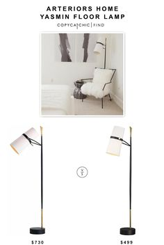 Arteriors Home Yasmin Floor Lamp $730 vs @crateandbarrel Riston Floor Lamp $499