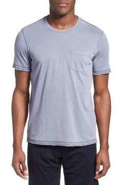 Daniel Buchler Washed Cotton Blend Crewneck T-Shirt