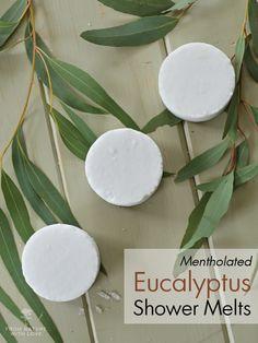 Fondant pour douche menthol et eucalyptus.
