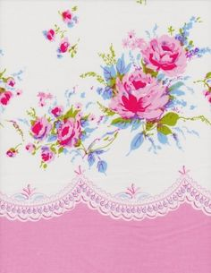 SALE Paris Bebe French Roses Border Cotton Quilting by SydneyStyle