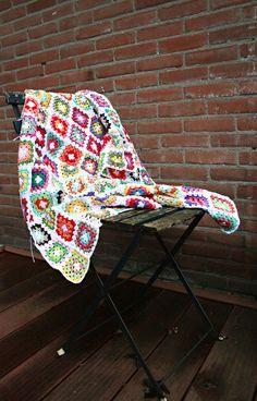 Granny Square Blanket, via Etsy.