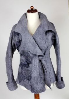 felted jacket available size M Grey by FeltFieltroFilc on Etsy - StyleSays