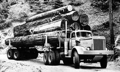 1954 International RDF310 Logging Truck Factory Photo c4756-SVSQAT