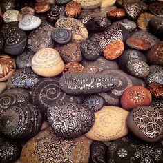 I create Meditation Rocks as my Morning Meditation www.JulieAnnStricklinRocks.weebly.com