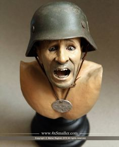 Bust of a German soldier in scale by Maher Ragheb Best Scale, Scale Models, Riding Helmets, German, Channel, Youtube, Instagram, Deutsch, German Language