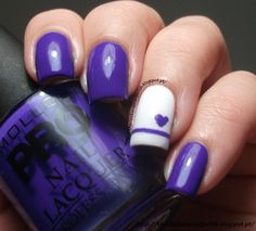 Cute nail design, would do different colors.