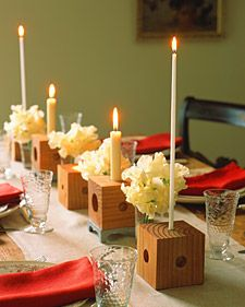 Candle Blocks: An easy do it your self centerpiece to fit every size candle in your home, use it over and over.