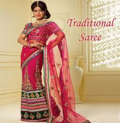 Show the #traditional side of your #personality by wearing this amazing #saree.