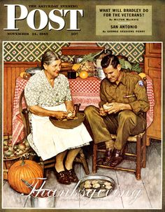 Norman Rockwell and his mentor, J. Leyendecker, not only created more Post covers than any other artists, their art helped shape the way Americans think about Thanksgiving. The Saturday Evening Post is giving thanks for its two greatest artists. Norman Rockwell Prints, Norman Rockwell Paintings, Norman Rockwell Thanksgiving, Peintures Norman Rockwell, Vintage Thanksgiving, Happy Thanksgiving, Thanksgiving Pictures, Thanksgiving Blessings, Saturday Evening Post