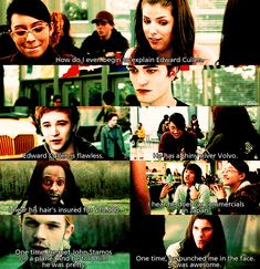 Mean Girls and Twilight equals perfection.