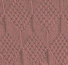 Reversible Diamonds and Lozenges Square #free #knit #knitting #pattern #motif #square #freepattern #freeknittingpattern