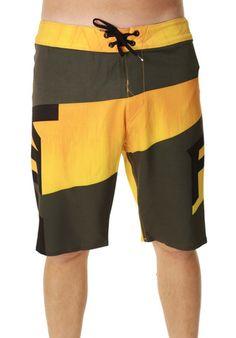 Fox Racing Overhead Camo Stretch Board Shorts Mens Bathing Suit Swim Trunks