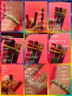 Easy tutorial to make a hexafish rubber band bracelet. I do it on pencils because if you do it on your fingers it's too tight. This takes a lot of rubber bands. By Olivia langworthy