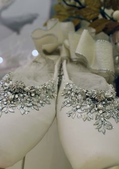 These pointe shoes make me want to cry they are so beautiful! Pointe Shoes, Ballet Shoes, Dance Shoes, Toe Shoes, Topshop, Decorated Shoes, Ballet Tutu, Ballet Beautiful, Ballet Costumes