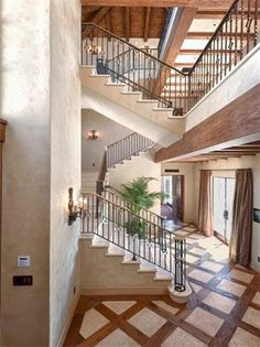 Rocky Oaks Estate Vineyards in Malbiu #staircase #wood and tile inlay floors