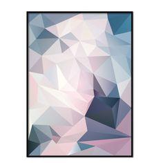 Abstrakt mönster i nyanserna blått, turkos, rosa och aprikos
