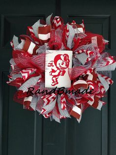 THE Ohio State University Brutus Buckeye Wreath by RandBmade for $79.00