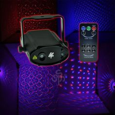 e46a7bbb5a Red   Blue Laser Stage light DJ Party Dance Show Projector Lights Remote  Control