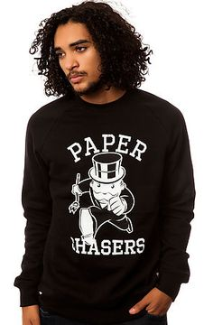 The Paper Chasers Crewneck in Black by Crooks and Castles use rep code: OLIVE for 20% off!