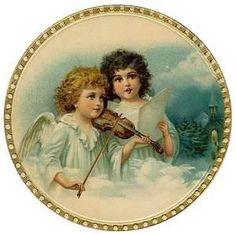Image detail for -Free Vintage Christmas Angels Scrapbook Element