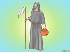 "How to Make a Grim Reaper Costume. Now what is Halloween without a few eerie costumes, such as ""The Grim Reaper?"" Halloween is supposed to be all in fun, and there is nothing like a hair-raising costume to get you in the spirit of. What Is Halloween, Halloween 2018, Halloween Costumes, Grim Reaper Costume, Grim Reaper Halloween, Hair Raising, The Grim, Just For Fun, Aurora Sleeping Beauty"
