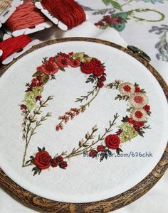 Have your wedding bouquet memorialized forever thorough custom embroidery by Through Rain or Shine. How is it dude um Loch in lila Pullover zu verwenden Stickerei Embroidery Hearts, Hand Embroidery Stitches, Embroidery Hoop Art, Crewel Embroidery, Hand Embroidery Designs, Embroidery Techniques, Embroidery Applique, Cross Stitch Embroidery, Embroidery Books