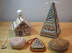 Victoria Sampler's Gingerbread house and tree