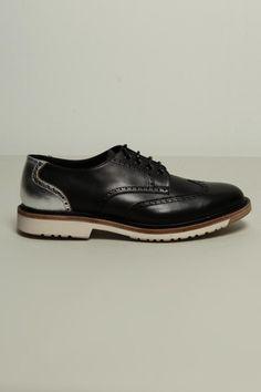 04923b7d01a6 F.O.G. X Uniform Experiment wing tip shoes black - SlamJamSocialism Stone  Island Shadow Project