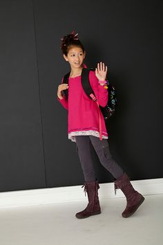 Royalty free photo! Tween girl with waving with a backpack. There's no cost for using the shots, but we do ask that you credit the photos to us with a link to www.fashionplaytes.com. Tween Girls, Royalty Free Photos, Girl Fashion, Cool Outfits, Backpack, Shots, Photoshoot, Link, Blog