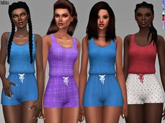 -Cute casual romper to dress up or down, or even to work out, or wear to bed. :)  Found in TSR Category 'Sims 4 Female Everyday'