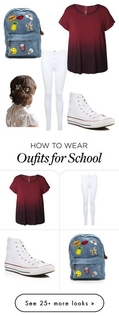 """School"" by izzy-busy34 on Polyvore featuring Dex, Miss Selfridge, Converse and plus size clothing"