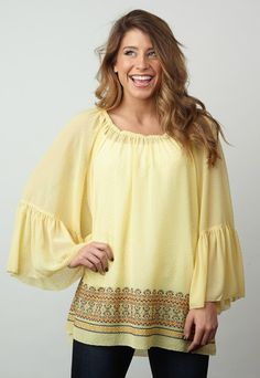 Yellow Ivy Jane Top! www.shopcocobella.com