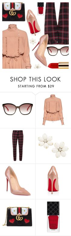 """""""Touch of Romance"""" by stacey-lynne on Polyvore featuring Fendi, Stella Jean, Cambio, Christian Louboutin, Gucci and Yves Saint Laurent"""