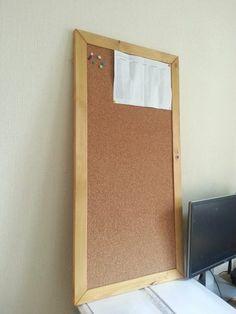 Пробковая доска, сделанная для Роберта из Санкт-Петербурга, который пока что не решил, как и где ее повесить:)
