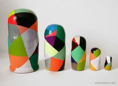 Russian Dolls wearing colors ~ Audrée Lapierre