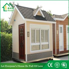 Guard house WhatsApp: +8618620106756 Steel Structure Buildings, Guard House, Portable Toilet, Prefab Homes, Tiny House, Construction, Outdoor Structures, Design, Prefab Cottages