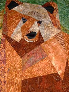 This is the paper piecing bear I made and quilted with my longarm.