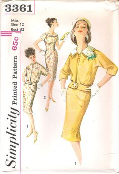 Uncut Size 12 or 16 1950s Mad Men Wiggle by GrandmaMadeWithLove, $15.00