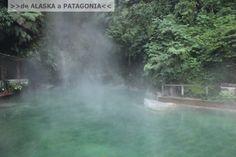"""Bienvenidos a Guatemala. País de la eterna primavera @CrisRiquelmeC [De Alaska a la Patagonia]: """"...Las fuentes Georginas. Aguas termales que brotan de una roca y alimentan tres pozones de color Calipso en la mitad de la selva. Arboles de Ceiba, Copales y monos aulladores era la escenografía de este paraíso. Estacionamos nuestra casa, hablamos con el encargado y nos fuimos a sumergir en estas piscinas calientes a las diez de la noche..."""""""