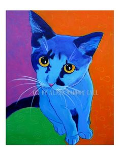 Cat Pet Portrait DawgArt Cat Art Pet Portrait von dawgpainter